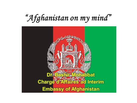"""Afghanistan on my mind"". Rivers Lakes."