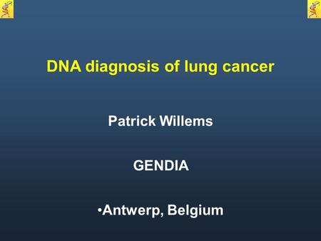 DNA diagnosis of lung cancer