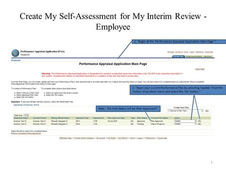 Performance Appraisal Application (Paa). Rating Cycle Rating