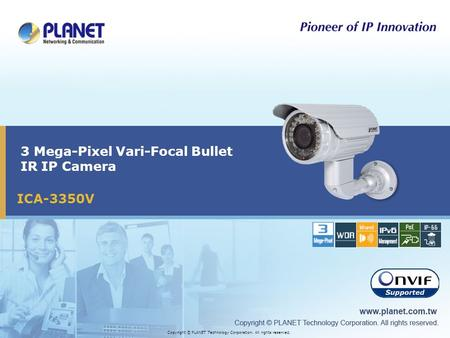 3 Mega-Pixel Vari-Focal Bullet IR IP Camera