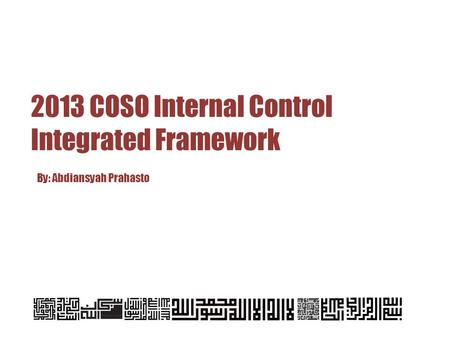 Introduction In 1992, the Committee Of Sponsoring Organizations of the Treadway Commission (COSO) published Internal Control-Integrated Framework (1992.