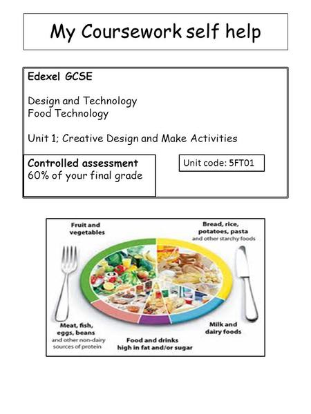 Food tech gcse coursework help