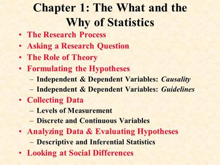 Chapter 1: The What and the Why of Statistics