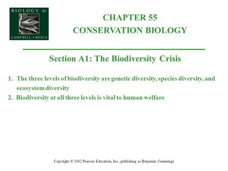Section A1: The Biodiversity Crisis