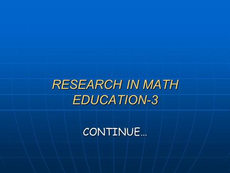 RESEARCH IN MATH EDUCATION-3