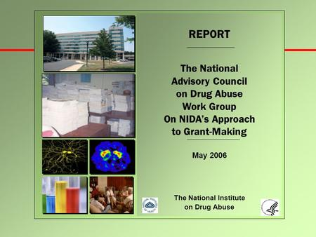 REPORT The National Advisory Council on Drug Abuse Work Group On NIDA's Approach to Grant-Making May 2006 The National Institute on Drug Abuse.