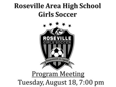 Roseville Area High School Girls Soccer ""
