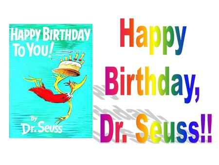 Dr. Seuss's real name was Theodor Seuss Geisel To learn about America's favorite children's author let's watch this video.