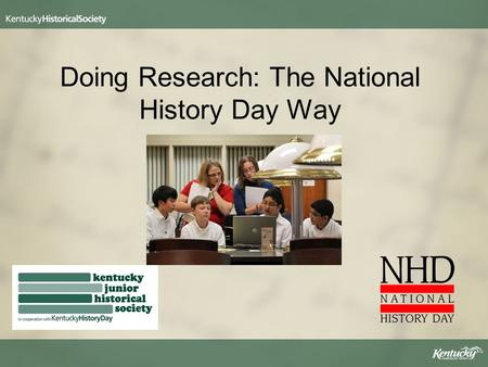 Doing Research: The National History Day Way