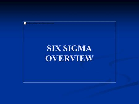 an introduction to general electrics quality gamble the implementation of six sigma Early equipment management by  several plants heavily involved in the implementation of total  programs such as six sigma, lean manufacturing, total quality.