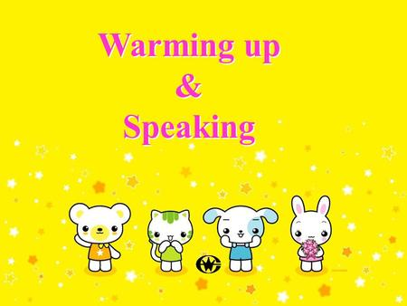 Warming up & Speaking Warming up & Speaking. a place to which someone is going, esp. at the end of a long journey 旅游目的地 What is a destination? Definition.