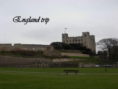 England trip. Monday at 11.3O p.m. we went to Calais to take the Eurotunnel.