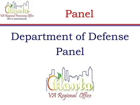 Panel Department of Defense Panel. How the SCOs Can Help Ways to help the claimant receive benefits:  Assist the claimant in sending in orders & DD Form.