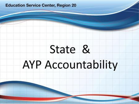 State & AYP Accountability. 2009 Ratings Highlights District Ratings by Rating Category (including Charter Operators) ACCOUNTABILITY RATING 2009 CountPercent.