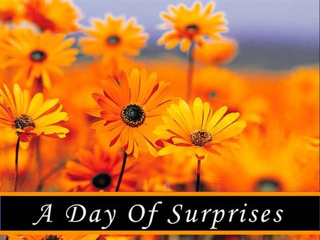 "A Day Of Surprises. ""A Day Of Surprises"" JESUS THROUGH THE EYES OF JOHN 1 The Pharisees heard that Jesus was gaining and baptizing more disciples than."