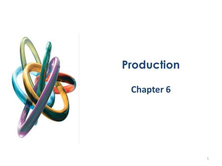 Production Chapter 6 1. Production The theory of the firm describes how a firm makes cost-minimizing production decisions and how the firm's resulting.