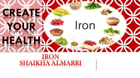 Iron is a mineral that's necessary for life. Iron plays a key role in the making of red blood cells, which carry oxygen. You can get iron from food and.