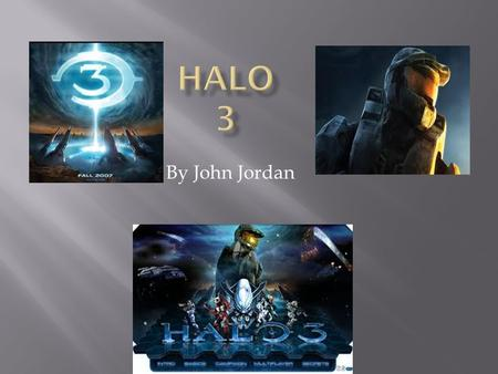 By John Jordan  Halo 3 is only for the Xbox 360.  It is a FPS. (First Person Shooter).  The story is you are a Spartan (super soldier) from the UNSC.