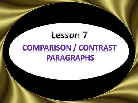Who are two people that i should compare and contrast?
