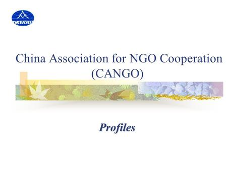 China Association for NGO Cooperation (CANGO) Profiles.