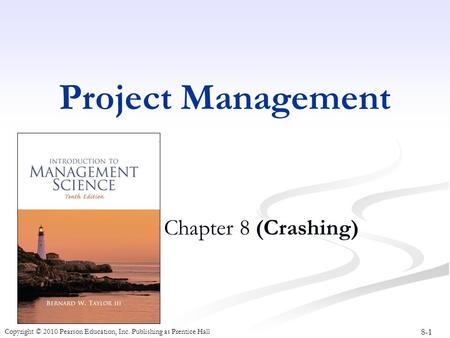 Project Management Chapter 8 (Crashing).