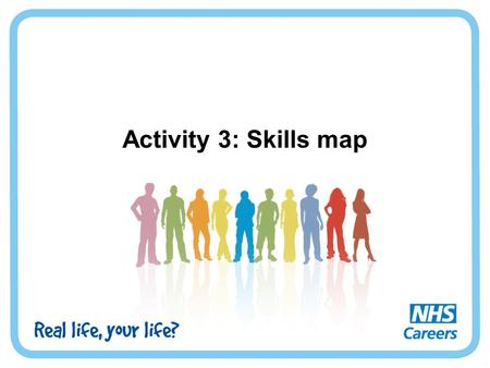 Activity 3: Skills map. What are skills? Skills help us to carry out tasks effectively. Some people are more naturally skilled at some things, but a skill.