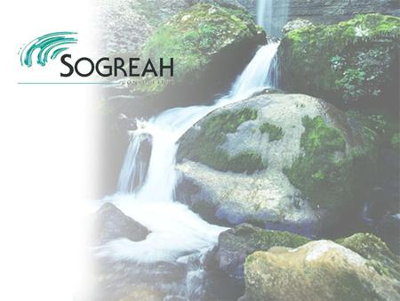 SOGREAH is a fully independent group of consultants specialising in development and the environment. Sectors of activity: water and the environment infrastructure.