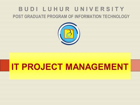 POST GRADUATE PROGRAM OF INFORMATION TECHNOLOGY