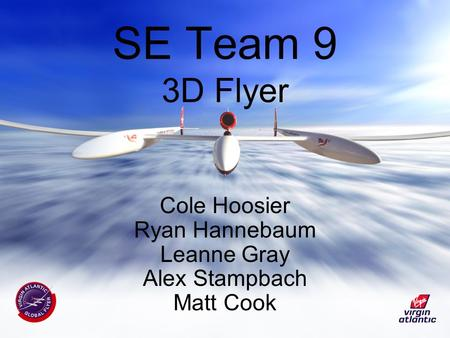 SE Team 9 3D Flyer Cole Hoosier Ryan Hannebaum Leanne Gray Alex Stampbach Matt Cook.