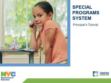 SPECIAL PROGRAMS SYSTEM Principal's Tutorial. 2 Principal's Login To log into the Special Programs System: Web Address: www.opt-osfns.org/osfns/Resources/SpecialPrograms/Login.aspx.