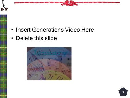 Insert Generations Video Here Delete this slide 1.