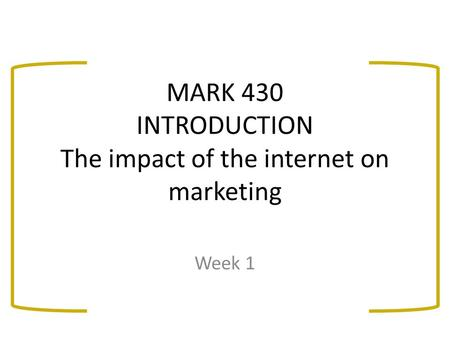 An introduction to the social impact of the internet