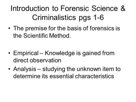 An introduction to the analysis of scientific knowledge