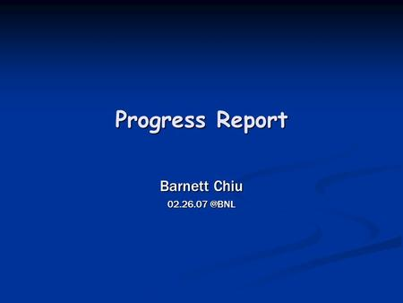 Progress Report Barnett Chiu Glidein Code Updates and Tests (1) Major modifications to condor_glidein code are as follows: 1. Command Options: