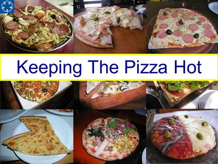 Keeping The Pizza Hot. The Pizza Shop A new pizza shop is being opened which will sell pizza & ice-cream for home delivery. They wants lots of customers.