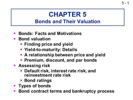 bond valuation exercises with solutions pdf