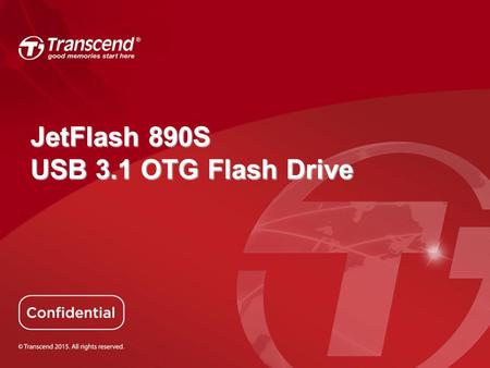 JetFlash 890S USB 3.1 OTG Flash Drive.