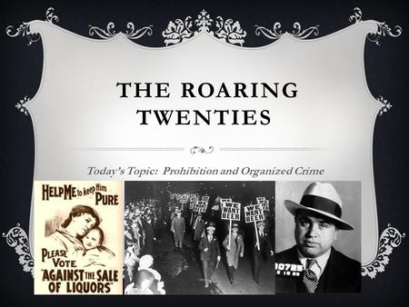 organized crime in the 1920s essays Organized crime in the 1920s research papers examime the rise in organized  crime after the 18th amendment made it illegal to manufacture, transport or sell.