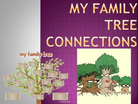 ●The student will investigate family history and heritage; create a visual representation of family; trace physical movement of family members over time;
