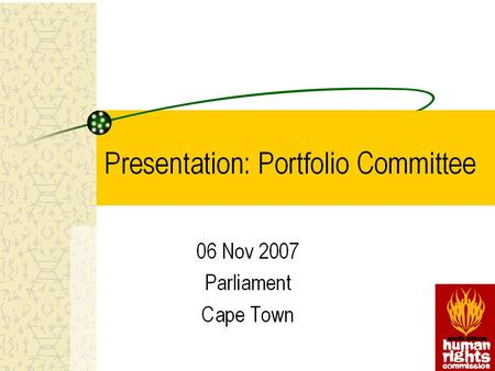 2 ANNUAL REPORT 2006/07 3 Programmes Commissioners Office of the Chief Executive Officer –Strategic <strong>Management</strong> –Financial <strong>Management</strong> –Parliamentary Liaison.