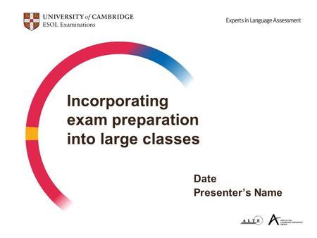 Incorporating exam preparation into large classes. Date