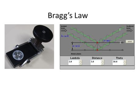 Bragg's Law.