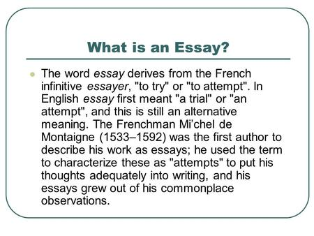 word essay french Extended essay the extended essay is an independent, self-directed piece of research, finishing with a 4,000-word paper.