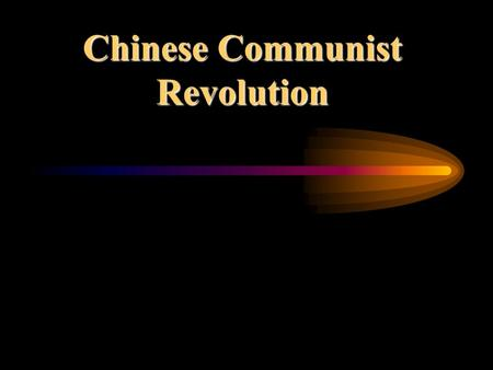 Chinese Communist Revolution Main Ideas After World War II, Chinese Communists defeated Nationalist forces and two separate Chinas emerged. China remains.