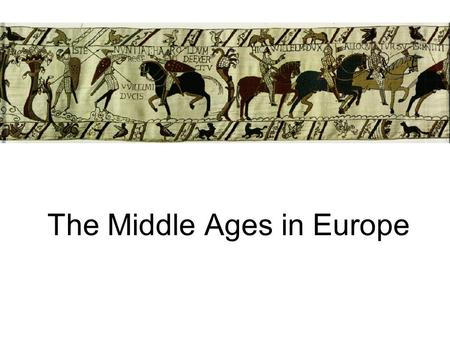 The Middle Ages in Europe. Where are we? The Eastern half of the Empire becomes the Byzantine Empire (capital city of Constantinople) The Western Half.