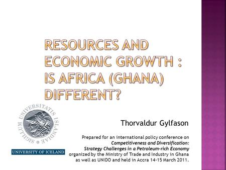 Economic growth and diversification strategy