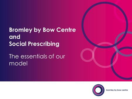 Bromley by Bow Centre and Social Prescribing