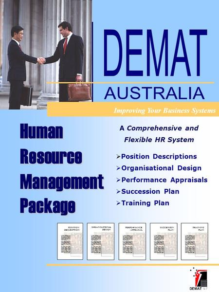 TRAINING PLAN SUCCESSION PLAN PERFORMANCE APPRAISAL ORGANISATIONAL DESIGN POSITION DESCRIPTION  Position Descriptions  Organisational Design  Performance.