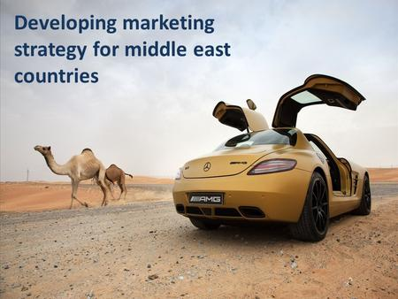 Developing marketing strategy for middle east countries.