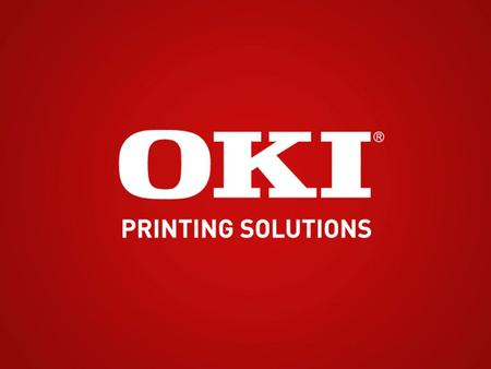 Oki Printing Solutions Product Training for the MC560/CX2033 MFP.